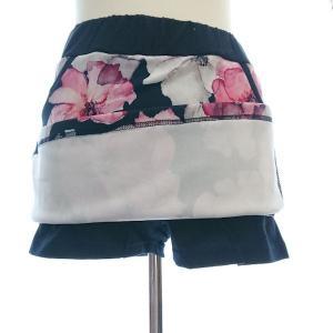 ゴルフウェア レディース セットアップ 上下 スカート 花柄 半袖|nary|10