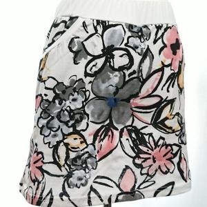 セットアップ レディース ゴルフウェア パーカー 半袖 スカート 花柄|nary|19