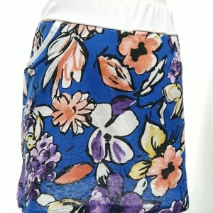 セットアップ レディース ゴルフウェア パーカー 半袖 スカート 花柄|nary|07