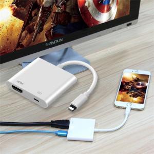 iPhone Lightning Digital AVアダプタ 第2世代 HDMI 変換アダプター ...