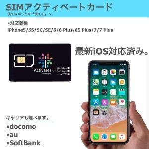 全iOS対応 各キャリア対応 iPhone 5S 5C iPhone 6 6Plus iPhone 6S 6S plus iPhone 7 7Plus 専用 NanoSIM アクティベーション アクティベートカード