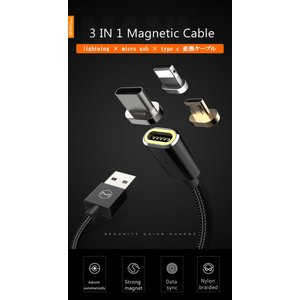 ライトニングケーブル 3in1 充電ケーブル iphone アンドロイド type c 1.2m M...