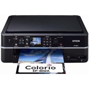 旧モデル エプソン Colorio インクジェット複合機 EP-802A 有線・無線LAN標準搭載 2.5型カラー液晶 前面二段給紙 6色染|natsumestore