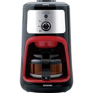 アイリスオーヤマ コーヒーメーカー 全自動 メッシュフィルター付き 1~4杯用 ブラック IAC-A600|natsumestore