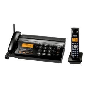 パナソニック おたっくす デジタルコードレスFAX 子機1台付き ブラック KX-PW308DL-K|natsumestore