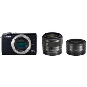 Canon ミラーレス一眼カメラ EOS M100 ダブルレンズキット ブラック EOSM10