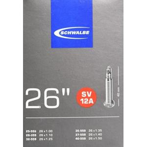 SCHWALBE(シュワルベ) 【正規品】26×1.00/1.50用チューブ 仏式 40mmバルブ(未使用の新古品) natsumestore