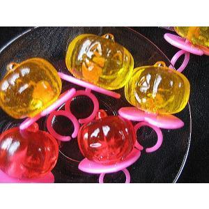 かぼちゃのおばけ キャンディー (ジュエルリング-タイプ) 60ケ|natukashiya-honp