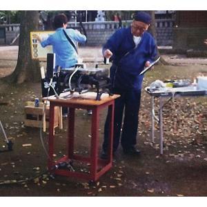 お祭りに 懐かしの 手焼センベイ焼機 A natukashiya-honp