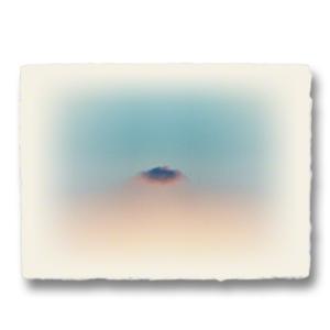 おしゃれな和紙のインテリアアートパネル「夕暮れのはぐれ雲」(18x24cm)|natum
