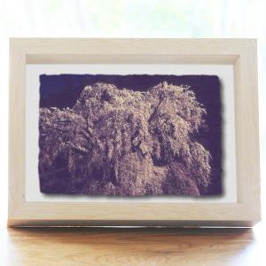 手漉き和紙の立体アートフレーム「身延山久遠寺のしだれ桜」(20x15cm)|natum