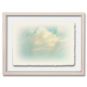 手漉き和紙の立体アートフレーム「虹と入道雲」(40x30cm)|natum