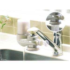 フリーサイエンス ワンウォーターECO 1台 (カートリッジ1個・メスアダプター1個付き) 浄水器 蛇口取り付けタイプ ONE WATER ECO 素粒水 |natural-iris