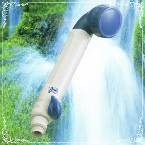 フリーサイエンス ウォーターセラピィー 1台 (カートリッジ1個・アダプター3種付) 浴室シャワー浄水器 素粒水 シャワーヘッド型|natural-iris