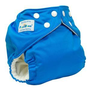 ファジバンズ ポケット式布おむつ ワンサイズ (3.2〜16kg) インサーツ2枚付き BlueLagoon|natural-living