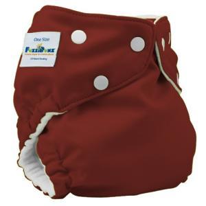 ファジバンズ ポケット式布おむつ ワンサイズ (3.2〜16kg) インサーツ2枚付き チョコトリュフ|natural-living