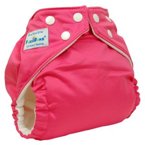 ファジバンズ ポケット式布おむつ ワンサイズ (3.2〜16kg) インサーツ2枚付き Flamingo|natural-living