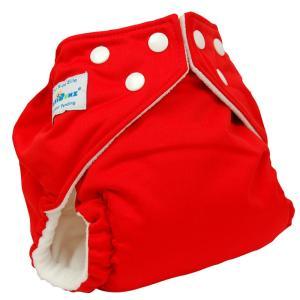 ファジバンズ ポケット式布おむつ ワンサイズ (3.2〜16kg) インサーツ2枚付き CandyAppleRed|natural-living