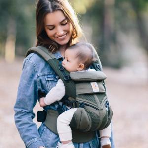 [最新] エルゴベビー オムニ 360 メッシュ クールエア OMNI カーキ Ergobaby 新生児から 抱っこひも [落下防止ウエストベルト付][SG基準]|natural-living|02