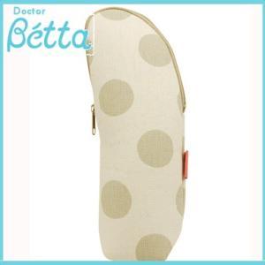 Betta ドクターベッタ 保温ポーチ ストライプ&ドット(グレージュ) 哺乳瓶ケース ストラップなし|natural-living
