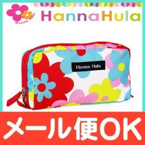 HannaHula (ハンナフラ) シングルファスナー ポーチ ポップフラワー|natural-living