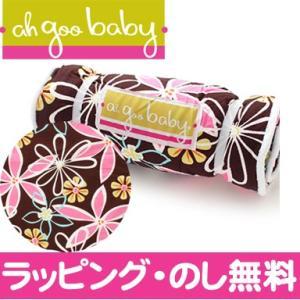 ah goo baby アーグーベイビー 低反発おむつ替えマット プラッシュパッド (Retro daisy) 出産祝い おむつ替えシート|natural-living