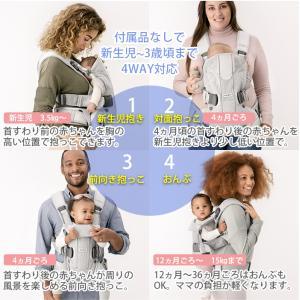 [最新] ベビービョルン 抱っこ紐 one kai air ワン カイ エアー メッシュ アンスラサイト [2年保証][SG基準]BabyBjorn ベビーキャリア 抱っこひも|natural-living|13