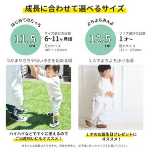 Baby feet (ベビーフィート) 11.5cm ベビーシューズ ベビースニーカー ファーストシューズ トレーニングシューズ natural-living 03