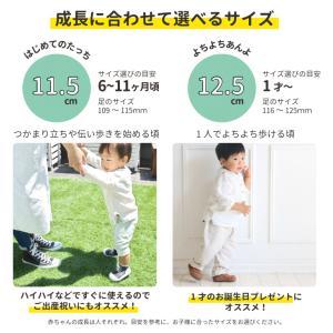 Baby feet (ベビーフィート) 12.5cm ベビーシューズ ベビースニーカー ファーストシューズ トレーニングシューズ|natural-living|03