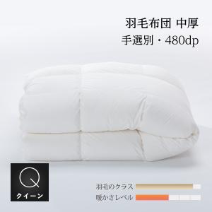 羽毛中厚掛け布団 クイーン210x210cm 収納袋付 手選別グース natural-sleep