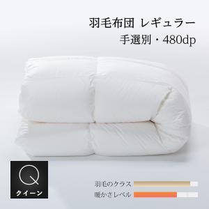 羽毛掛け布団 クイーン210x210cm 収納袋付 手選別グース natural-sleep