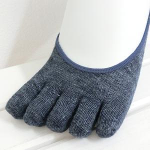 リネン 杢 五本指 フットカバー レディース 靴下 日本製 natural sunny|natural-sunny|03