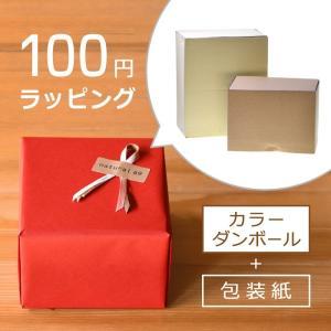 100円ラッピング 箱:カラーダンボール箱 包装紙:あり|natural69