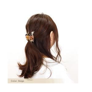 マーブル模様 2デザインアセテート バンスクリップ バンス 髪留め ヘアアクセサリー レディース|naturalberry|04