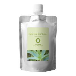アロエベラ葉汁 オーガニック 100ml (詰替え用) (メール便選択可) (スキンケア 化粧水 ヘアケア)|naturalcosmetic