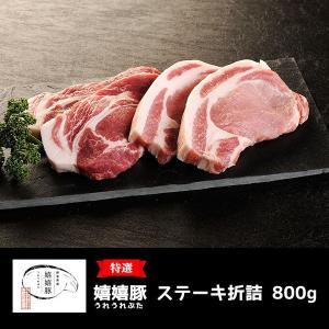 肉 ギフト  豚肉 嬉嬉豚 ステーキセット(約800g)