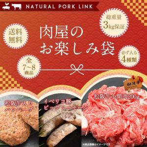 肉 牛肉 松阪牛 加工品 お楽しみ袋 3kg (送料無料 訳あり わけあり 福袋 01)