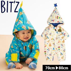 ビッツ ベビー ジャンプスーツ 足つき 雪遊び 男の子 スキーウェア アウター 子供服 BIT'Z  ベビー 赤ちゃん スノーコンビ ロンパース|naturalstyle-yh