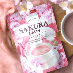 さくらラテ(SAKURA Latte)(粉末約13杯分) ふんわり香る桜のかほり(2個までメール便185円可) (クーポン利用可)|natures
