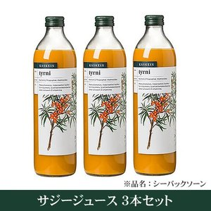有機サジージュース100%ジュース 3本セット KASKEIN (シーバックソーンジュース)(シーベリージュース 沙棘
