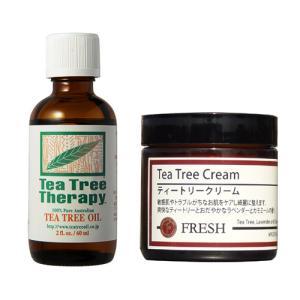 ティートリークリームと精油(ティーツリーオイル60ml)のセット |natures