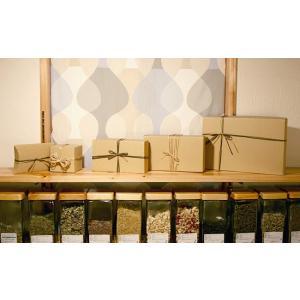 【梱包用】プレゼント用  ラッピング用ナチュラルBOX(ペーパーバック付)