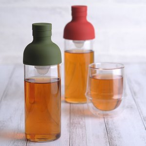 フィルターインボトル ポット 麦茶ポット 耐熱 ガラス製 HARIO ハリオ フィルターインボトル ...