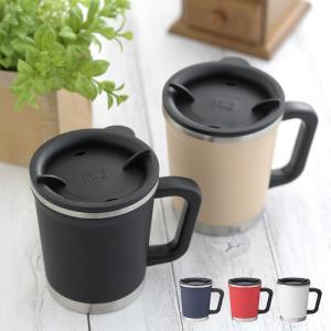 ステンレスマグカップ マグカップ 保温 保冷 フタ付き 蓋付き ステンレス thermo mug サ...