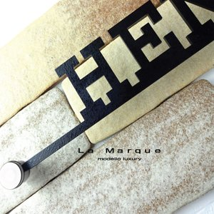 表札「ラ マルク」デザイン全7種 ブランドロゴ アイアン調ステンレス|naturulu