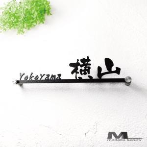 表札「ストレート京円」和・なごみ書体 ステンレス製|naturulu