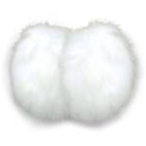 寒さ対策 メテックス イヤーラックス フレームレスイヤーマフ ラビットファー SM ホワイト naturum-od
