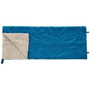 封筒型シュラフ BUNDOK 封筒型シュラフ 夏用 15度 連結可能 ブルー×ベージュ|naturum-od