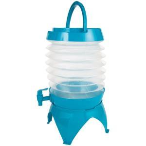 水筒・ボトル・ポリタンク BUNDOK ジャバラウォータージャグ 水タンク 7.5L 蛇口コック付き スタンド付き 7.5L ブルー|naturum-od