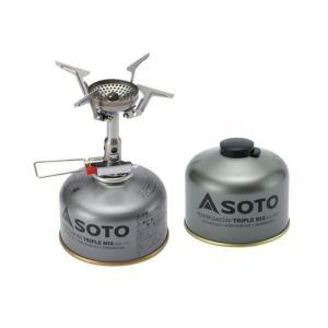 シングルコンロ SOTO AMICUS(アミカス)+パワーガス250トリプルミックス お得な2点セット naturum-od